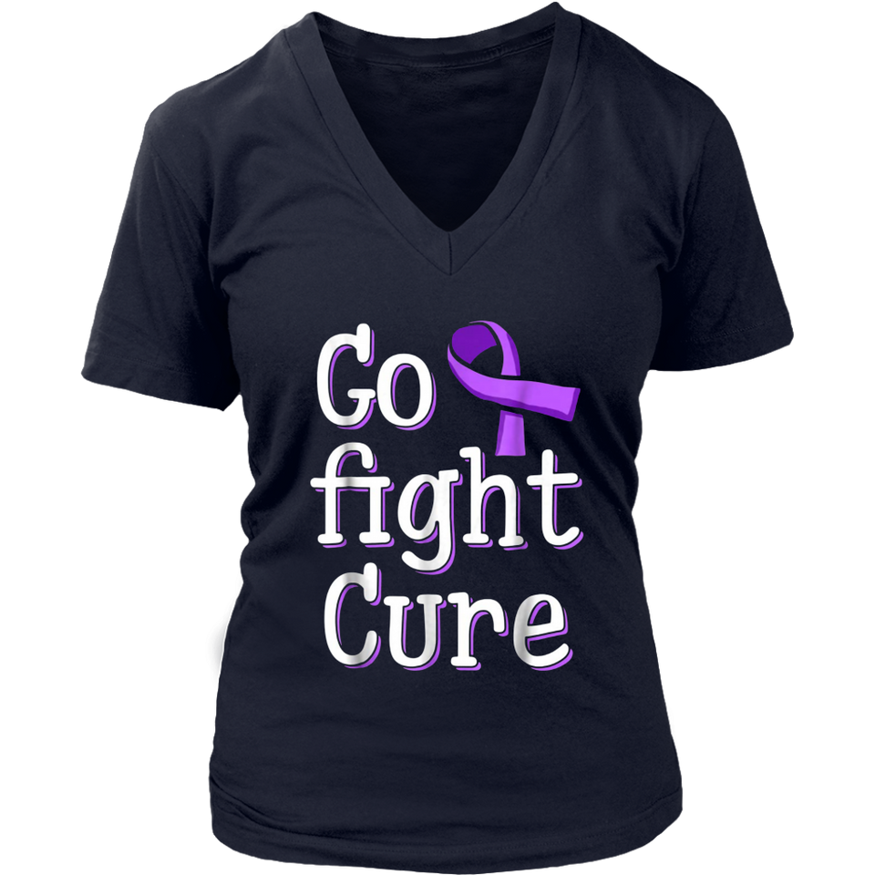 Awesome Go Fight Cure Childhood Cancer Gold Ribbon Awareness