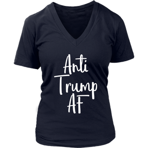 Anti Trump AF Shirt Womens with Floral Wreath