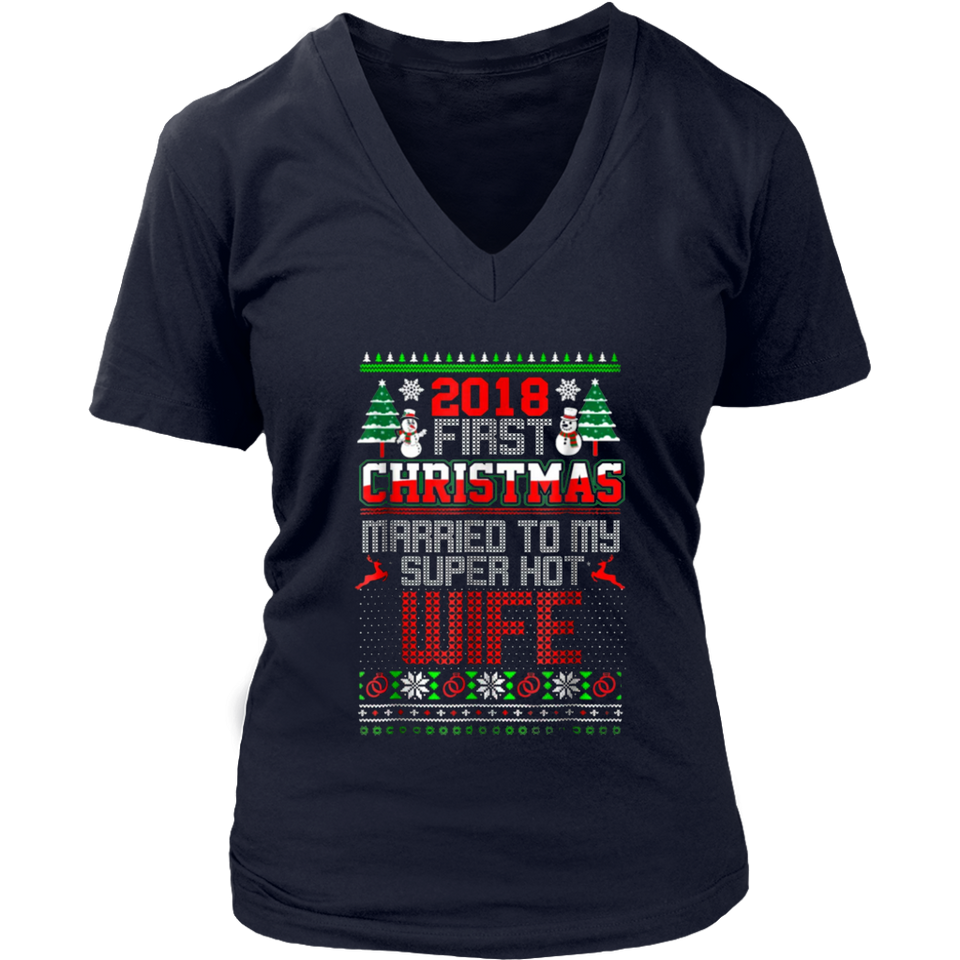 First Christmas Married To My Super Hot Wife TShirts