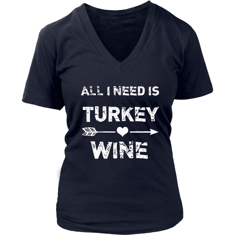 All I need Is Turkey and Wine T-Shirt