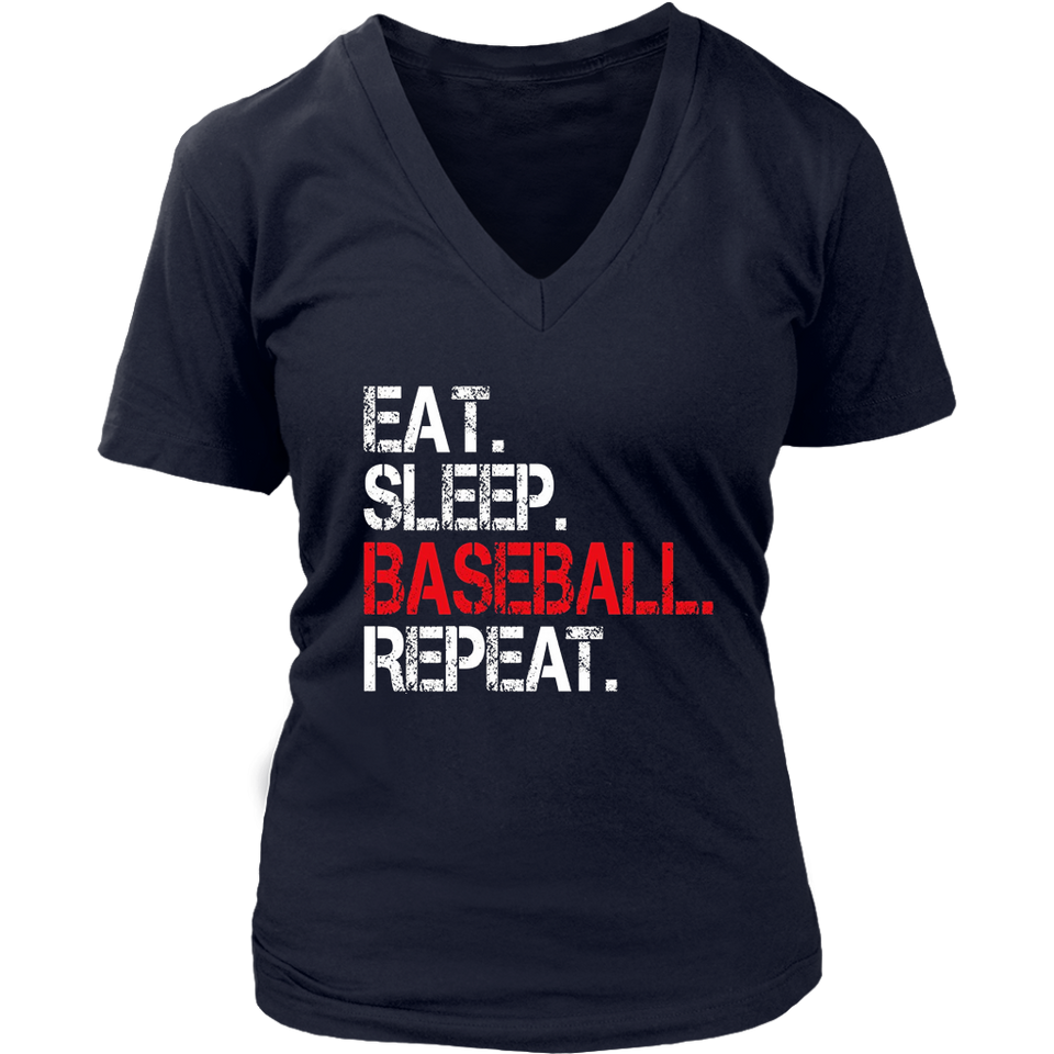 Eat Sleep Baseball Repeat TShirt for Men, Women, Kids Unisex