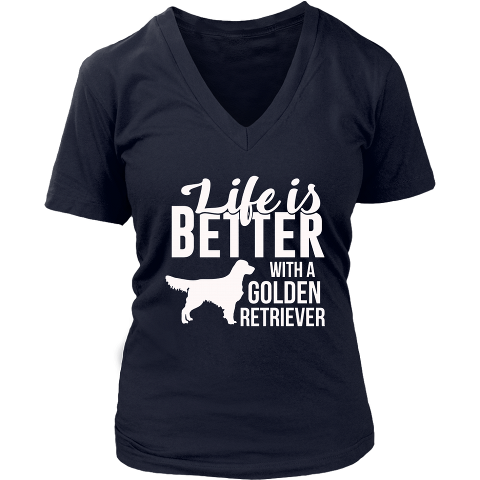 Life is Golden Retriever Dog Funny TShirt