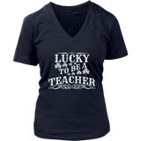 Lucky To Be A Preschool Teacher St Patricks T Shirt