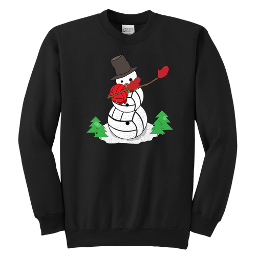 Dabbing Snowman Volleyball Sweatshirt