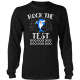Rock The Test Gift T shirt Funny School Professor Teacher