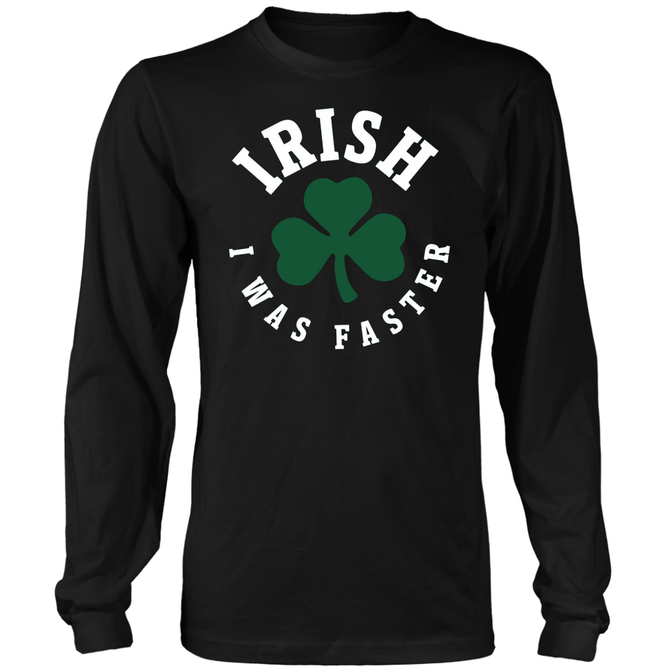 Irish I Was Faster Funny Running St. Patrick's Day Tshirt