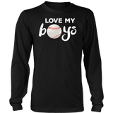 I Love My Boys Baseball Shirt for Moms-Baseball Mom TShirt