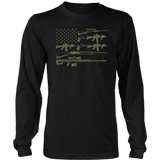 American Flag Gun T-Shirt, July 4th Independence Day