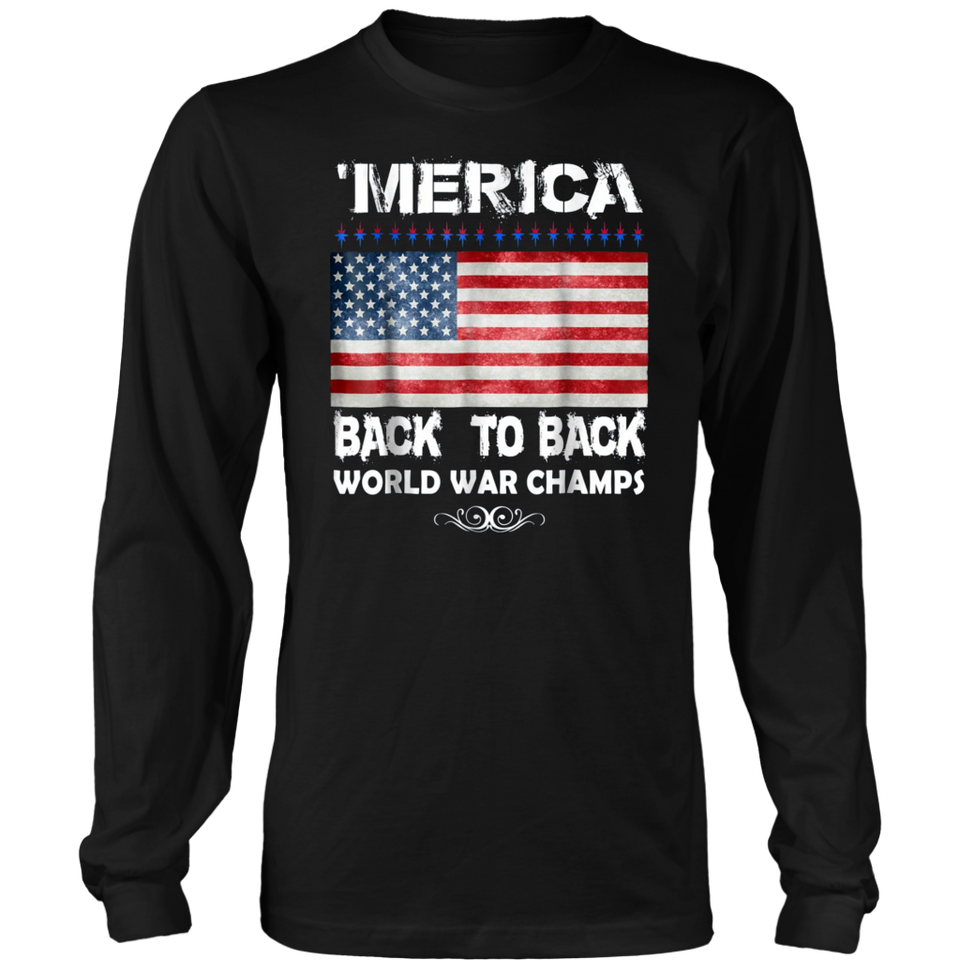 Merica Back To Back World War Champions Vintage T-Shirt