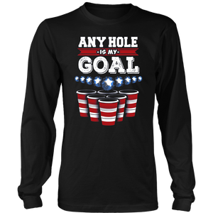 Any Hole Is My Goal Usa Cup Beer Tshirt