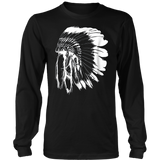 Feather warbonnets headdresses Native American Indian T-shirt