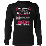And God Said Let There Be July Girl Shirt Birthday Shirt