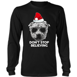 Don't Stop Believing Santa Claus Shirt