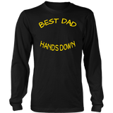 Best Dad Hands Down Shirt Fathers Day T Shirts