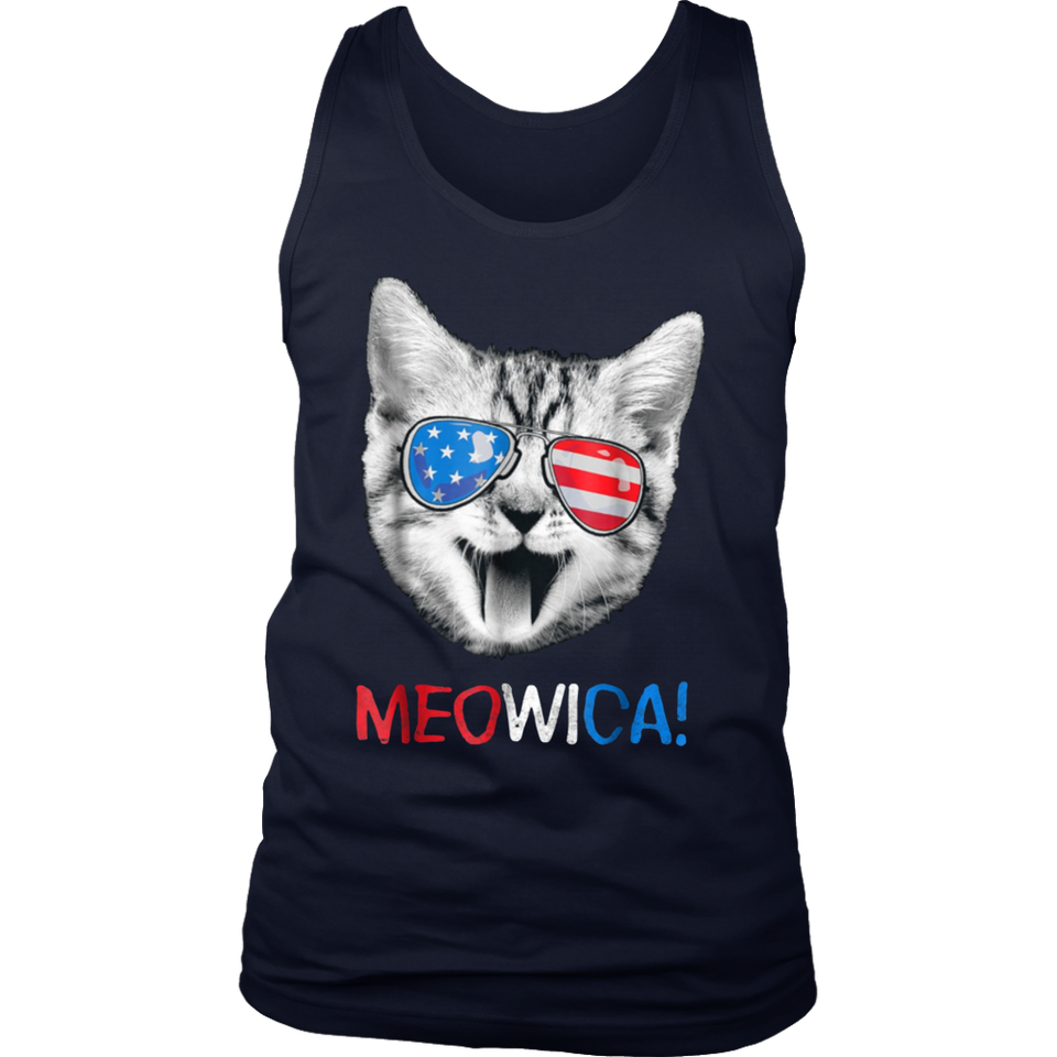 Meowica 4th Of July Caticorn Cat Unicorn Rainbow Tee