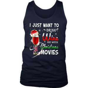 Just A Girl Who Loves Wine and Christmas TShirt