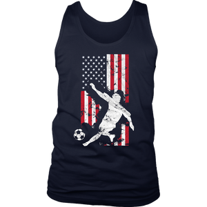American Flag USA Soccer T-Shirt