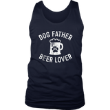 Mens Dog Father Beer Lover Shirt