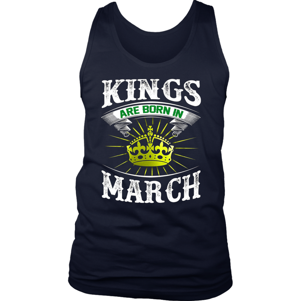 cool Kings Are Born In March Birthday T-Shirt