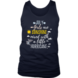 July Girls Are Sunshine Mixed With a Little Hurricane TShirt