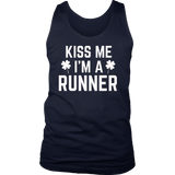 Kiss Me I'm A Runner Funny Running T-Shirt
