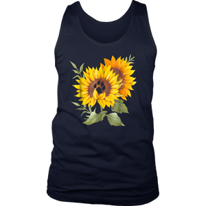 Sunflower Dog Paw Tshirt Dog Lovers Owners