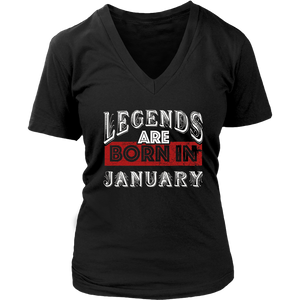 Legend Are Born In January Premium Edition TShirt