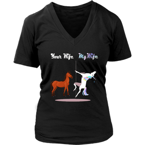 Your Wife vs My Wife Unicorn Shirts