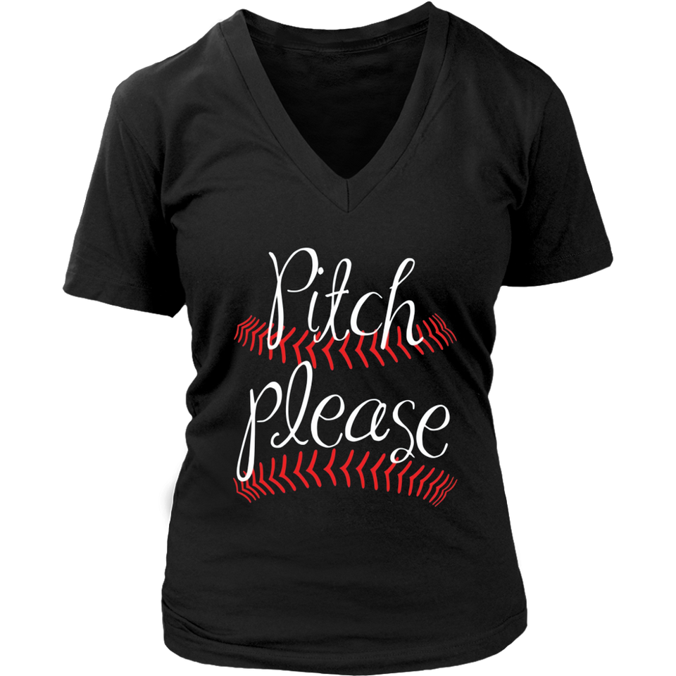Pitch Please Funny Softball Baseball Shirt