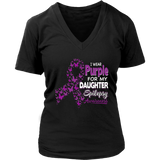 Nice I wear Purple for my Daughter Awareness T-Shirt