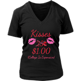 Valentines Day Gift Kisses 25 Cents 1 Dollar Funny T Shirt