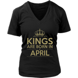 Kings Are Born In April Birthday Shirt