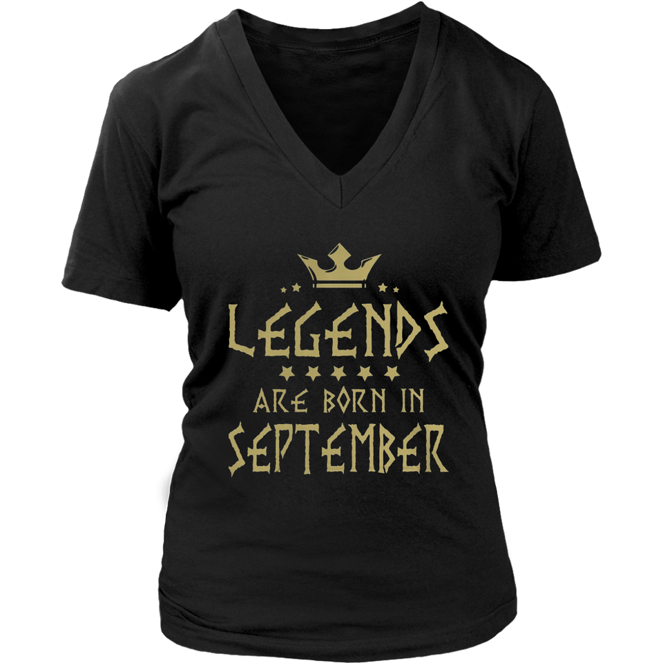 Legends Are Born In September Shirt