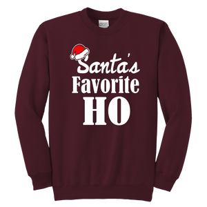Cute Santas favorite ho Crewneck Sweatshirt