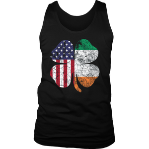 Cool Irish American Flag St Patricks Day Shamrock T-Shirt