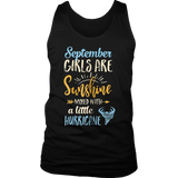 September Girls Are Sunshine Mixed With A Little Hurricane T-Shirt