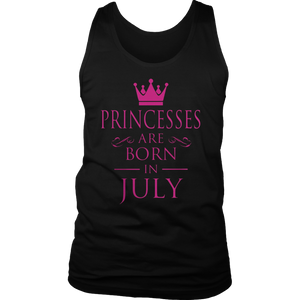 Princesses Are Born In July TShirt funny Shirt