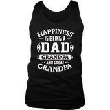 Happiness Is Being A Dad Grandpa And Great Grandpa TShirts