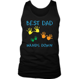 Best Dad Hands Down Shirt Fathers Day TShirt