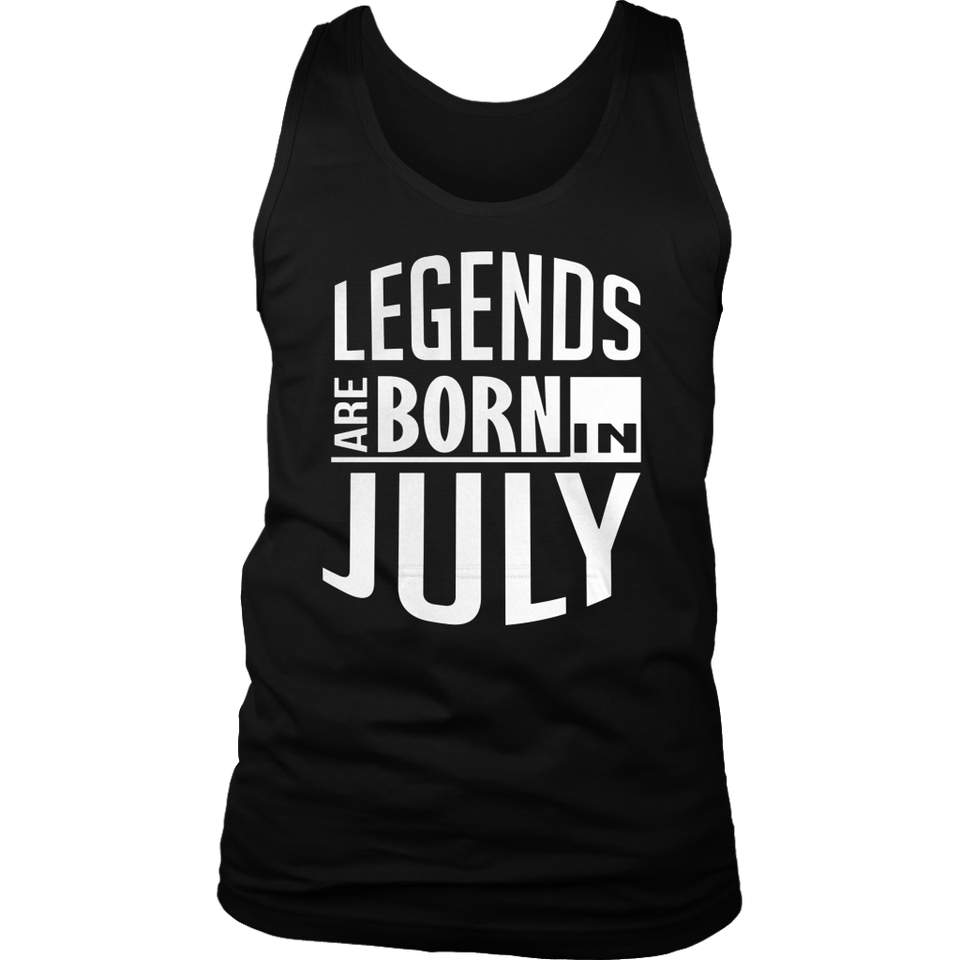 Legends Are Born In July Shirt Birthday t-Shirt