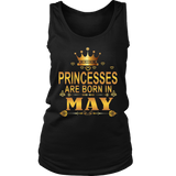 Princesses Are Born in May T-Shirts