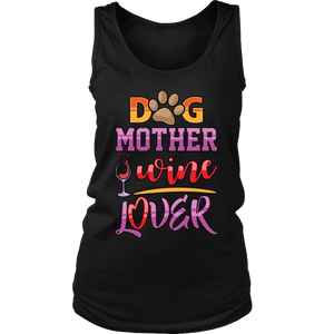 Dog Mother Wine Lover Cute T-Shirt