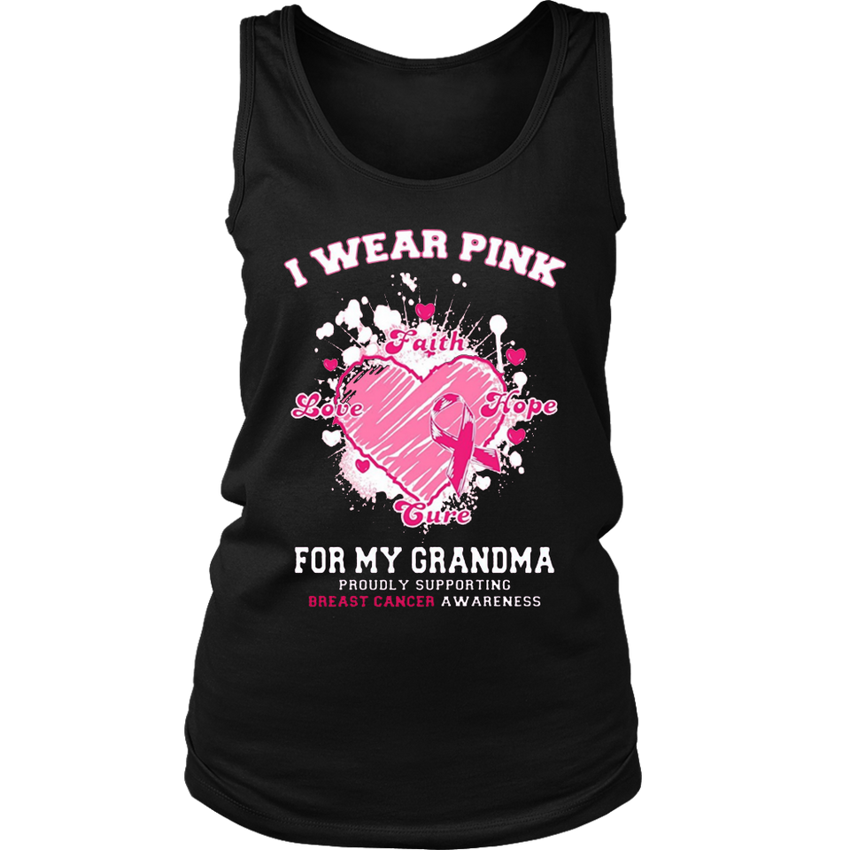 I Wear Pink for My Grandma Breast Cancer Awareness T-Shirt