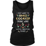 Just Want To Drink Wine Bake Christmas Cookies TShirts