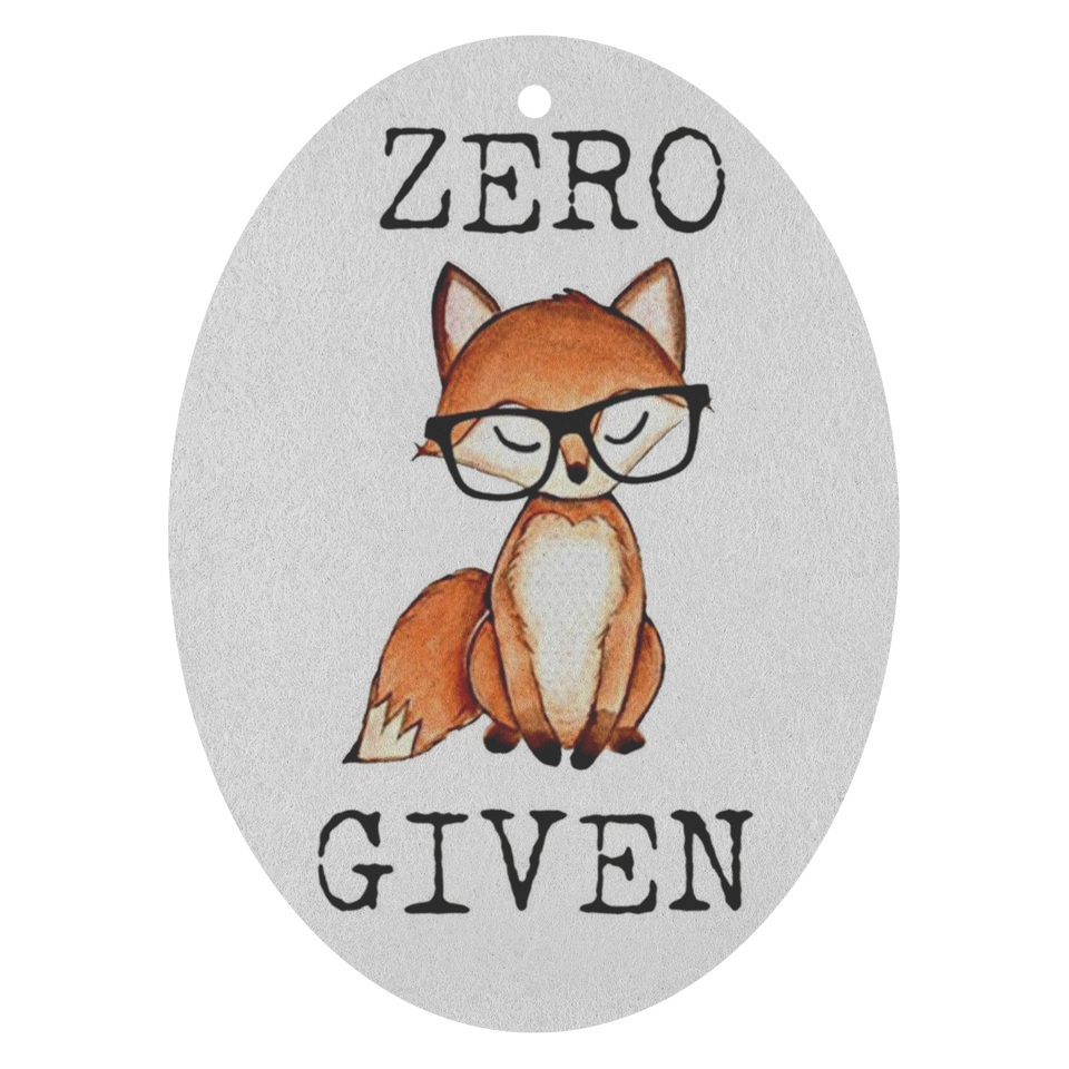 Zero Fox Given Air Freshener - 3 pack