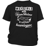 May Girls Are Sunshine Mixed With a Little Hurricane TShirt