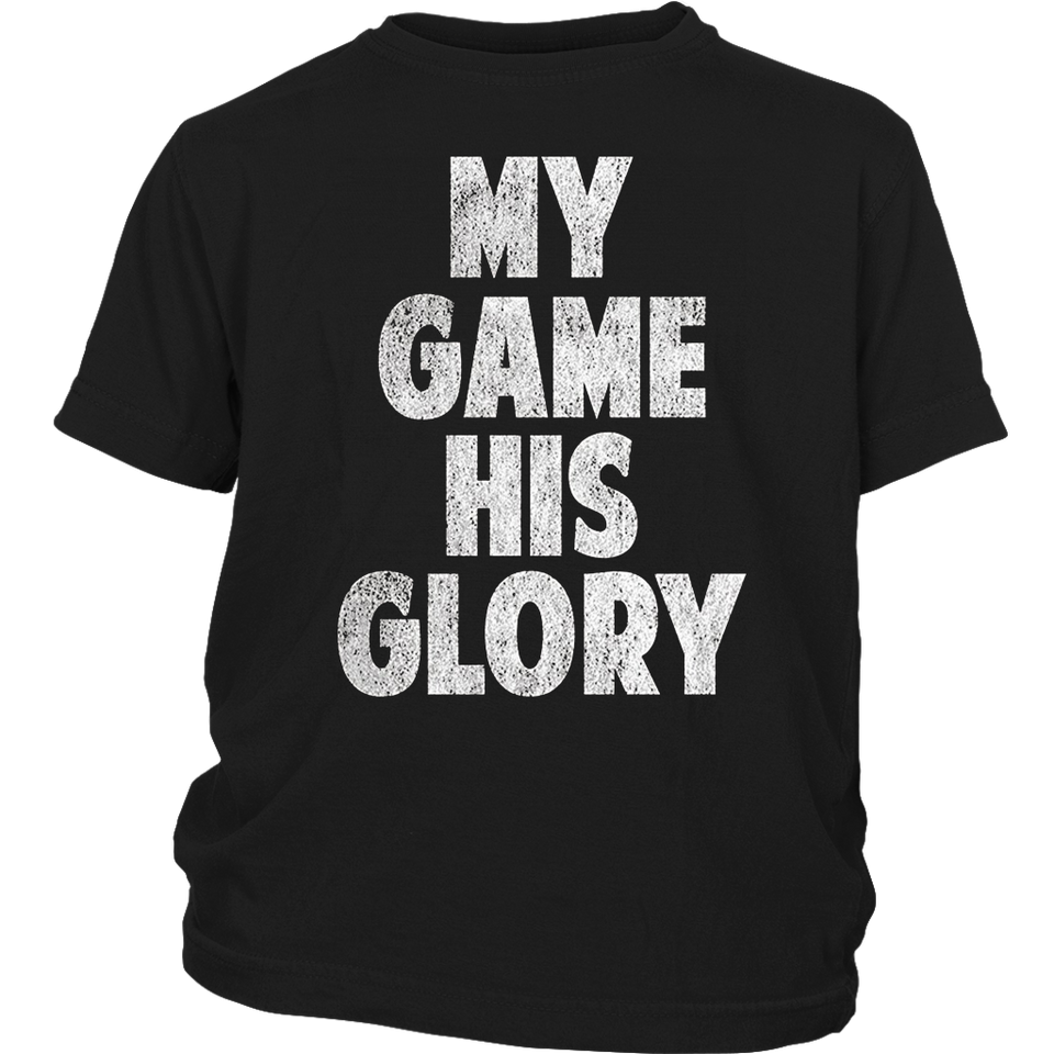 Christian Athlete T-Shirt My Game His Glory