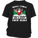 Merry Fitmas & A Happy New Rear Christmas Gym Workout Shirt