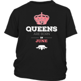 Queens Are Born In June T-Shirt Birthday Shirt