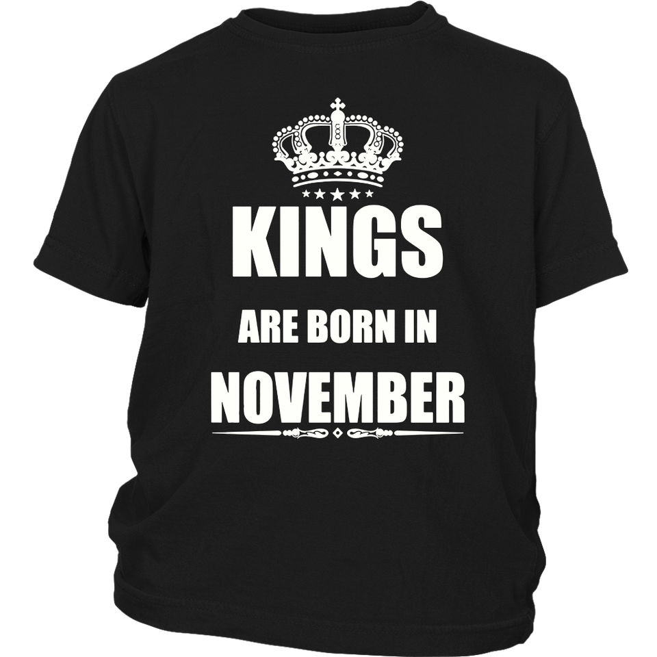 Kings Are Born In November T-Shirt